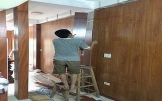 thi công ốp gỗ vinasan