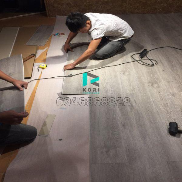 Thi công sàn nhựa giả gỗ Bắc Ninh